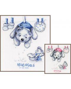 Vervaco borduurpakket geboortetegel babywas pn-0011892