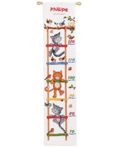 Vervaco borduurpakket groeimeter Kattenpret borduren PN-0011924