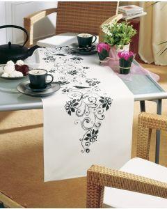 Vervaco borduurpakket bloemen loper pn-0012995 voorbedrukt in kruissteek