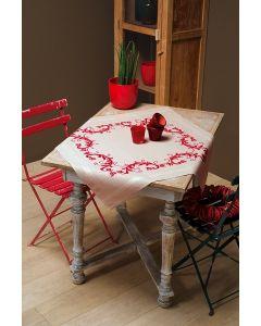 Vervaco tafelkleed Rode versiering borduren PN-0013113 voorbedrukt  kruissteek