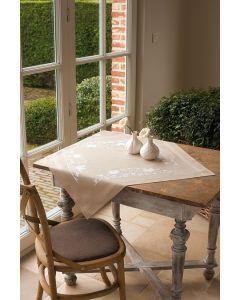 Vervaco tafelkleed Witte vogels borduren PN-0013116 voorbedrukt  kruissteek