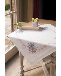 Vervaco tafelkleed  Lavendel borduren PN-0013208 voorbedrukt  kruissteek