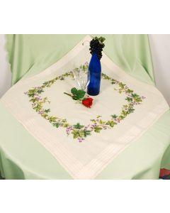 Vervaco tafelkleed wijnranken borduren PN-0013296 voorbedrukt  kruissteek