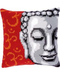 Borduurpakket kruissteekkussen boeddha Vervaco pn-0143700