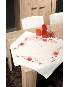 Vervaco tafelkleed Sierlijke rozen borduren PN-0145084 voorbedrukt  kruissteek