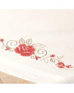 Vervaco borduurpakket tafelloper sierlijke rozen voorbedrukt