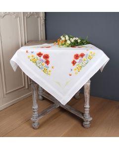 Vervaco tafelkleed Wilde voorjaarsbloemen borduren PN-0145162 voorbedrukt kruissteek