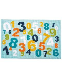 Borduurpakket  vloerkleed  cijfers vervaco pn-0150971