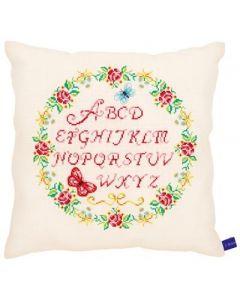 kussen rozen alfabet vervaco pn-0153869 met telpatroon