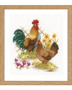 Vervaco borduurpakket de kippenfamilie pn-0156469
