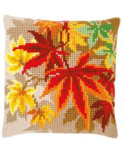 Kruissteek borduurpakket borduurkussen herfstbladeren van Vervaco pn-0157754