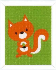 Vervaco kinder borduurpakket eekhoorntje in halve kruissteek pn-0157758