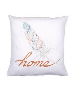 """Borduurpakket voorbedrukte kussen """"Home"""" Vervaco pn-0162153"""
