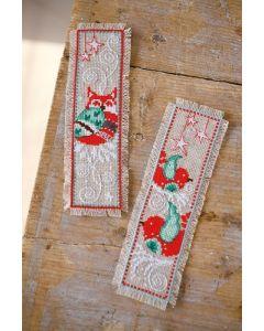 Borduurpakket boekenlegger van Winterfiguren om te borduren vervaco pn-0162260