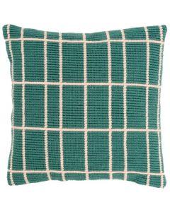 Borduurpakket Schuine spansteekkussen groen met telpatroon la maison victor pn-0163264