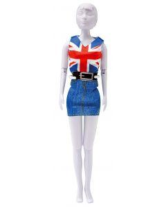 Dress Your Doll Zelf Barbiekleren naaien combi rood en blauw  pn-0164621