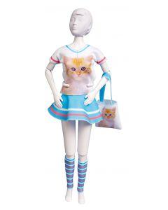 Dress Your Doll Zelf Barbiekleren naaien  Tiny cat  pn-0164629