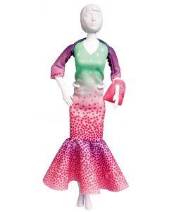 Dress Your Doll Zelf Barbiekleren naaien Betty madras pn-0164636