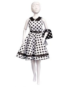 Dress Your Doll Zelf Barbiekleren naaien Peggy dots pn-0164661