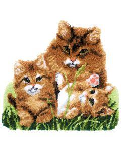 Knooppakket Knoopkleedje kattenfamilie van Vervaco