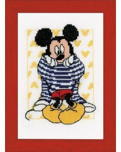 Vervaco borduurpakket Mickey Mouse  kleed zich aan Disney aida om te borduren  pn-0167520