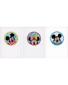 Vervaco borduurpakket 3 wenskaarten Disney Kiekeboe van Disney pn-0168455