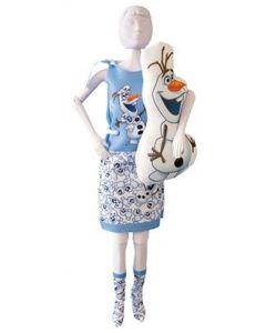 Dress Your Doll Zelf Barbiekleren naaien Frozen Disney Sleepy Sweet Olaf