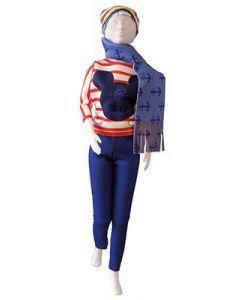 Dress Your Doll Zelf Barbiekleren naaien Disney Kathy Navy