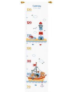 Vervaco borduurpakket groeimeter Bootje varen PN-0169272