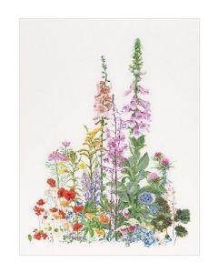 Borduurpakket American wild flowers van Thea gouverneur