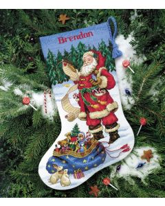 Borduurpakket Kerstsok kerstzang Dimensions 8751