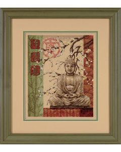 Borduurpakket boeddha zuiverheid sterkte en waarheid  borduren van Dimensions  35220