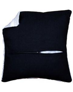 Kussenrug met rits van Vervaco zwart  45x45cm