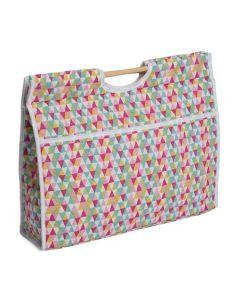 Handwerk tas gekleurde driehoeken van Hobbygift