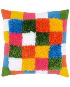 Vervaco Knoop- en kettingsteekkussen Bright squares pn-0175563