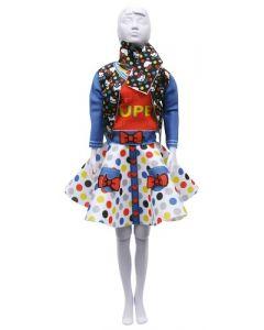 Dress Your Doll Zelf Barbiekleren naaien Hello Kitty Lucy Dots & bow