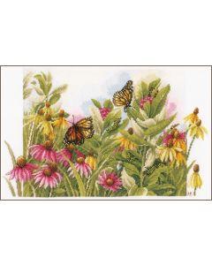 Lanarte borduurpakket Zonnehoedjes en vlinders van Marjolein Bastin borduren PN-0179972