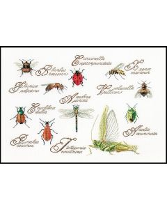 Borduurpakket History of Insects van Thea Gouverneur 566 aida