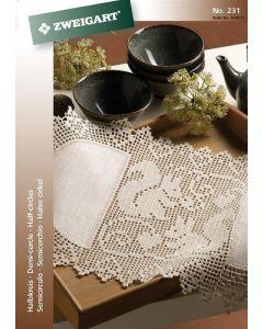 Zweigart  boekje over haak ideen halve cirkels no 231 met patronen om kleedjes en gordijnen