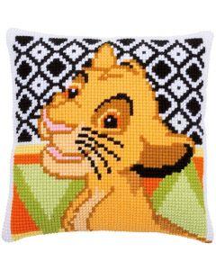 Vervaco borduurkussen Disney Simba PN-0183967 Kruissteek