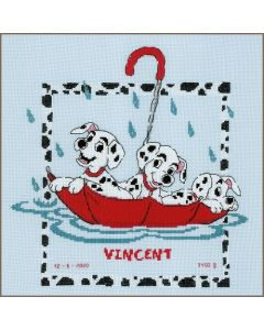Vervaco borduurpakket geboortetegel Disney Dalmatiërs PN-0183992