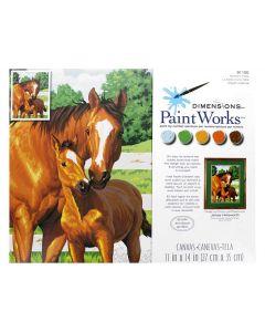 Schilder op nummer paarden moeders trots Dimensions 91100