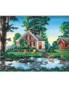 Schilderen  op nummer zomerhuis Dimensions 73-91433
