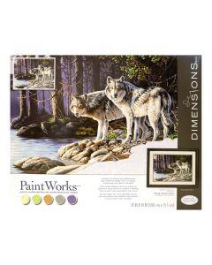 Schilderen op nummer grijze wolven Dimensions 73-91445