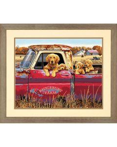 Schilderen op nummer gouden rit met honden Dimensions 73-9152