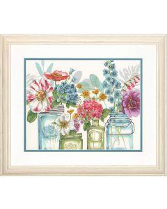 Schilderen  op nummer regenboog bloemen Dimensions 73-91730