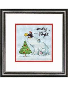 Dimensions borduurpakket merry en bright bear borduren 70-08990