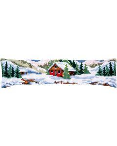 Borduurpakket tochtkussen winterlandschap Vervaco pn-0188593