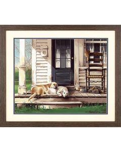 Schilderen  op nummer luie honden Dimensions 73-91742