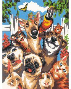 Schilderen  op nummer huisdieren selfie Dimensions 79-91679